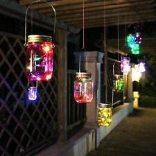 Mason Jar Solar LED Light Lids Lights Up Color Changing Wedding Xmas Party Decor