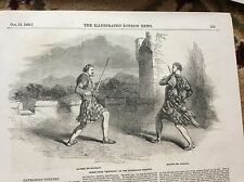 m4-7 ephemera 1849 picture macbeth haymarket theatre mr macready mr wallace