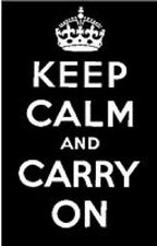 Personal Impressions CLEAR STAMP Spring Tinchies PICST065 KEEP CALM and CARRY ON