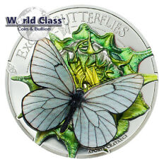 2017 .999 fine silver Mongolia Exotic Butterflies in 3D Silver Proof Coin