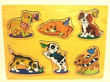 KIDS TODDLERS WOODEN EDUCATIONAL PUZZLE - PUPPY POWER - LEARNING TOOL PUZZLE