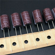 5pcs 680uF 25V 10x16mm NCC KZH 25V680uF Low Impedance Long Life Capacitor