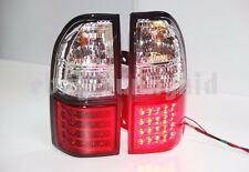 Red White For TOYOTA Prado FJ90 LC90 LED Taillights Lamps 1998 to 2003 Year LF