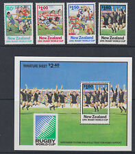 NEW ZEALAND :1991 Rugby World Cup + Min Sheet SG 1623-6+MS1627 MNH