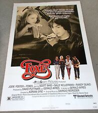 """ORIGINAL MOVIE THEATRE POSTER FOR THE 1980 FILM, """"FOXES""""."""