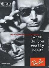 "Ray Ban Sunglasses ""Side Street Collection"" 1996 Magazine Advert #4475"