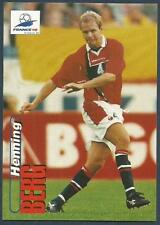 PANINI WORLD CUP 98- #014-NORWAY & MANCHESTER UNITED-HENNING BERG