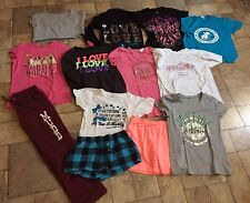 Lot Of Girl's Size 10/12 Clothes-Short Sleeve T-Shirts Used