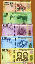 Banknotes SET Burundi, 500;1000;2000;5000;10000 Francs, 2015, P-New, UNC