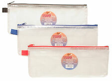 "Large 13"" Tuff Bag School Waterproof Trendy Strong Pencil Ruler Case Zip 300860"