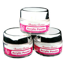 BF 3 X ACRYLIC POWDER for NAIL ART False Tips Tools Set - WHITE CLEAR PINK 296