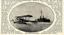 1914/15 * Seekrieg: Marine-Aeroplan bei Aufstieg *  WW1