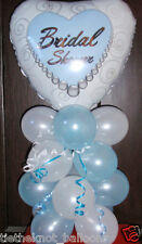 BRIDAL SHOWER HEN NIGHT PARTY FOIL BALLOON TABLE DISPLAY DECORATION AIRFILL BLUE
