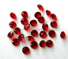 100pc Round 4mm January Garnet Red Crystal Birthstone Floating Charm For Locket