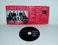 Single CD  Maroon5 - This Love  3.Tracks + Video  2004  05/16