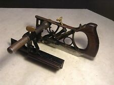 Circa 1880 Antique Phillips Combination Plow Plane Single Fence Very Ornate!!