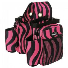 Tough 1 Saddle Bag/Bottle Holder/Gear Carrier in Pink Zebra Print  61-7392