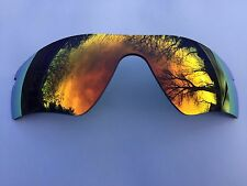 NEW ORANGE REVO MIRRORED REPLACEMENT OAKLEY RADAR PATH LENS & POUCH