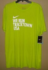 NWT MENS L LARGE NIKE DRI-FIT WE RUN TRACKTOWN USA T SHIRT RUNNING TRACK EUGENE