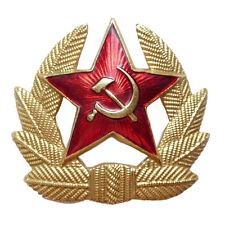 Soviet Badge Red Army Hammer Sickle Pin USSR Cap Metal Insignia Cockade Hat WW2