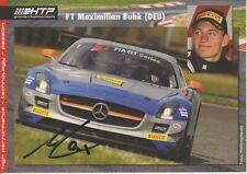 Autogramm, Maximilian Buhk – Mercedes SLS AMG GT 3 - HTP Gravity Charouz 2013