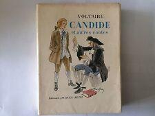 CANDIDE ET AUTRES CONTES 1947 VOLTAIRE ILLUSTRE RAOUL SERRES EO TRES BON ETAT