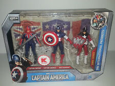 MU Marvel Universe - Captain America - Kmart Exclusive 3 pack / Box Set 3.75""