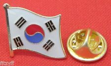 South Korea Country Flag Lapel Hat Cap Tie Pin Badge Korean Han Brooch