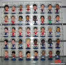 BLUE BASE Full Set (40) of 2010 Micro Soccer Worldstars Figurines
