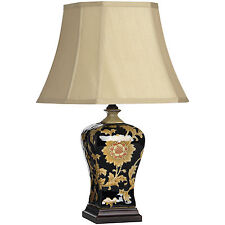 LAURIUM FLOWER PATTERN CERAMIC TABLE LAMP - ADD A TOUCH OF ELEGANCE TO THE HOME.