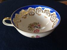 Winterling Hand Painted 22Kt and Cobalt Blue Tea Cup Floral Mug FREE SHIPPING