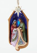 Heartwood Creek Holy Family in Lighted Stable Ornament NEW in Gift Box - 27382