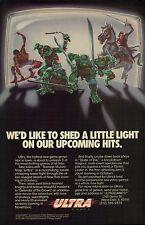 Vtg Ultra Games Teenage Mutant Ninja Turtles TMNT NES teaser video game print ad