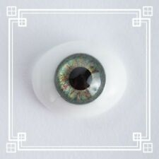 ~OvAL GLaSs IriS I EyEs 24MM GrEeN  ~ REBORN DOLL SUPPLIES