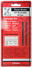 2 Reversible 82mm CARBIDE TCT Electric PLANER BLADES Fits Bosch DeWalt Ryobi