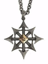 Chaos Star Pendant Necklace Gothic Eight Arrows Punk Occult Doom Metal Grunge