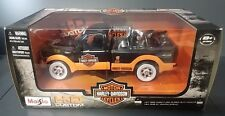 MAISTO 1999 FORD F-350 1936 KNUCKLEHEAD HARLEY HD BLACK CUSTOM 1/24 DIE CAST NIB