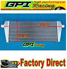 ALUMINUM UNIVERSAL TUBE AND FIN FMIC FRONT MOUNT TURBO INTERCOOLER 72.5X24X42