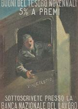 C2222) WW2 BANCA NAZIONALE DEL LAVORO, SOTTOSCRIVETE BUONI DEL TESORO. VIAGGIATA