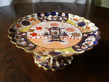 19th CENTURY COPELAND IMARI PATTERN FLUTED COMPORT or CAKE STAND - c1851-1885