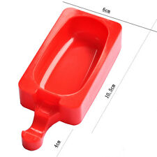 Red Silicone DIY Ice cream Maker Ice Lolly Frozen Mould Oval Pastry Bake Mold