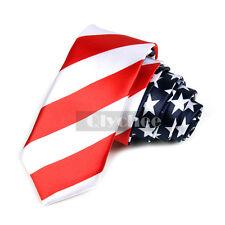 1X Men's American Flag Neck Tie USA Patriotic NeckTie DIY Findings Free Shipping