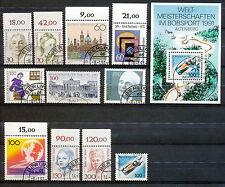 Bundespost 1488 - 1498 + blok 23 gebruikt (2)