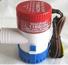 1PC New DC12V Submersible 1100 GPH Marine Boat Bilge Pump Non Automatic