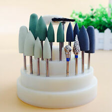 17Pcs Dental Lab Silicone Rubber Rotary Tungsten steel Polishing Burs 2.35mm IT