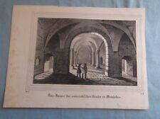 alte Grafik - wohl Stahlstich  - Kirche in Memleben  - wohl 19. Jahrhundert /S65