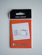 NOVELTY FRIDGE MAGNET BUNNY SUICIDES BUNNY IN A TOASTER