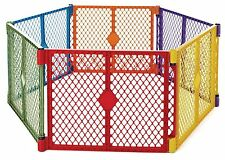 6 Color Panel Play Yard Safe Portable Flexible House Training Kid Baby Toddler
