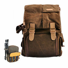 Waterproof Canvas Camera Backpack Rucksack Bag For Nikon D3300 D810 D5500 D750