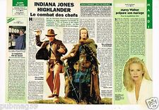 Coupure de Presse Clipping 1995 Indiana Jones Highlander